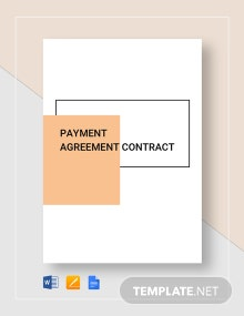 Payment Agreement Contract Template