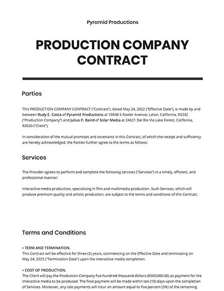 Company Contract