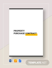 Property Purchase Contract Template
