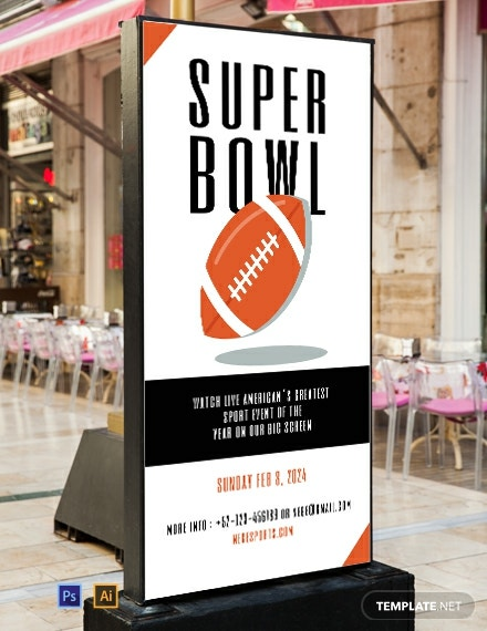 Free Super Bowl Digital Signage Template