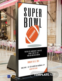 Super Bowl Digital Signage Template