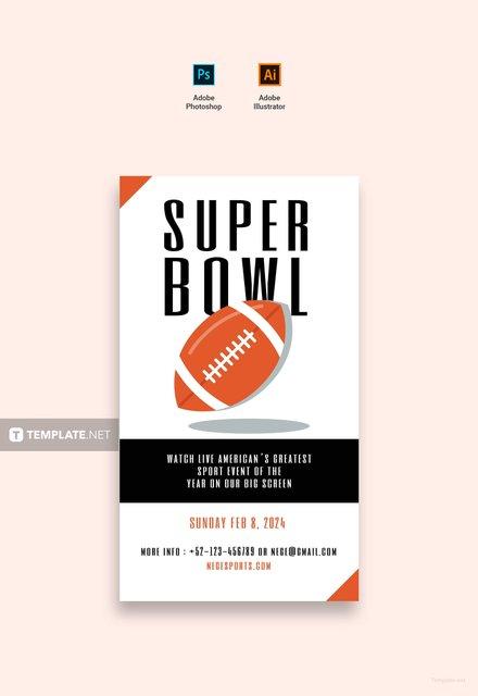 Free Super Bowl Digital Signage Template