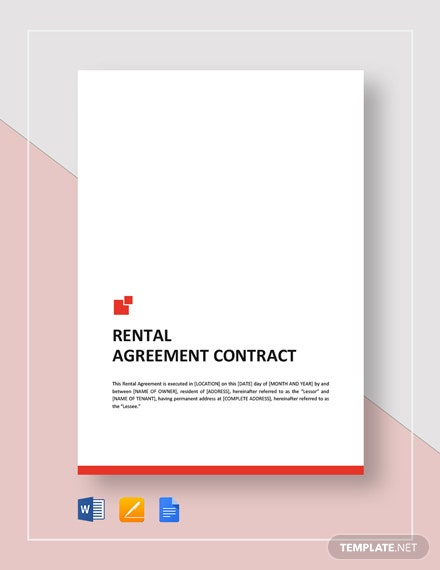 Rental Agreement Contract Template