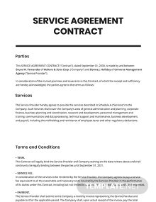 Service Agreement Contract Template