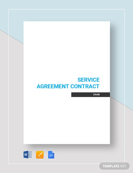 Simple Service Agreement Contract Template Word Doc