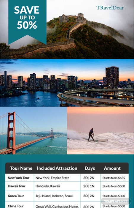 Free Travel Deals Digital Signage Template