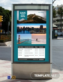 Travel Deals Digital Signage Template