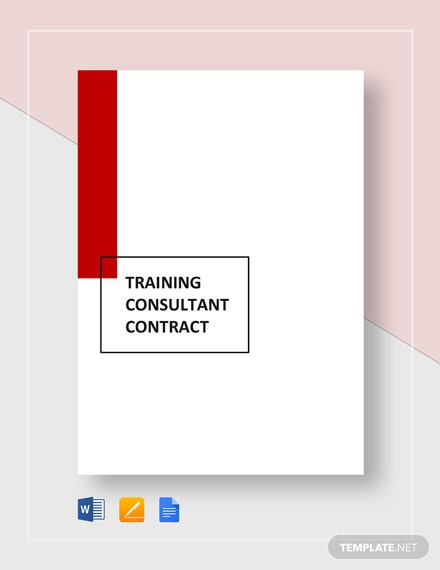 Training Consultant Contract Template