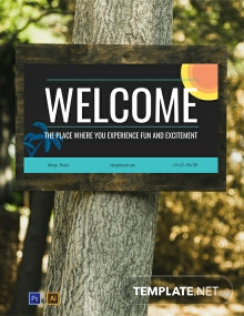 Free Welcome Sign Digital Signage Template