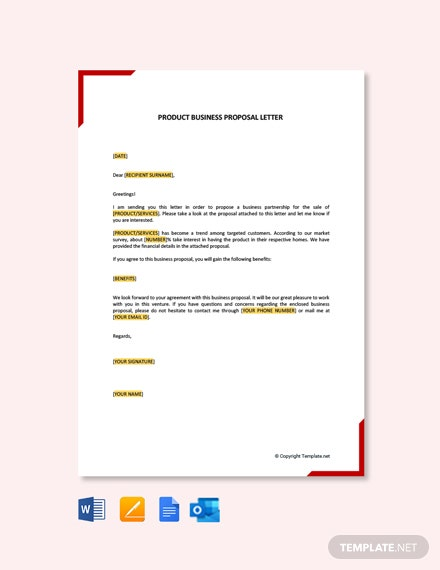 Product Business Proposal Letter