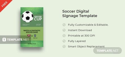 Free Soccer Digital Signage Template