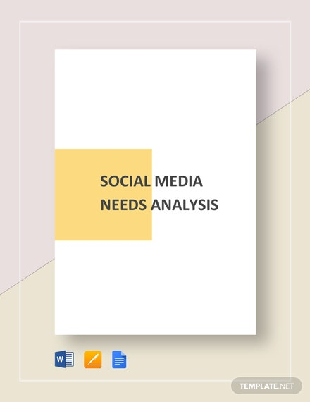 Social Media Needs Analysis Template