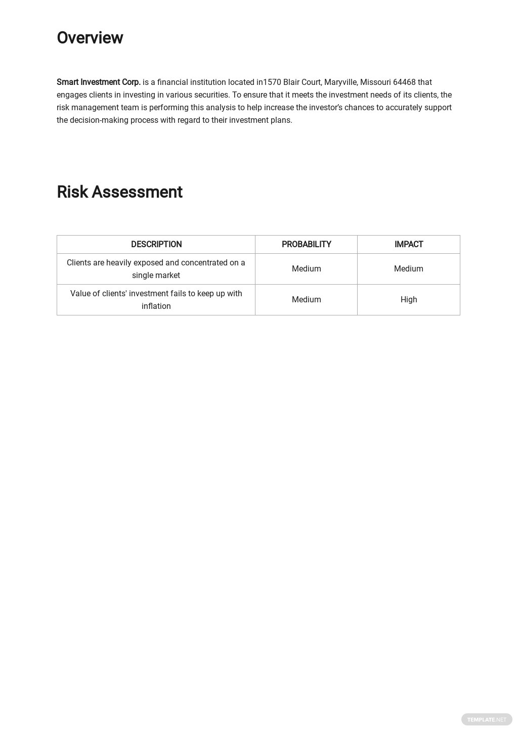Investment Risk Analysis Template 1.jpe