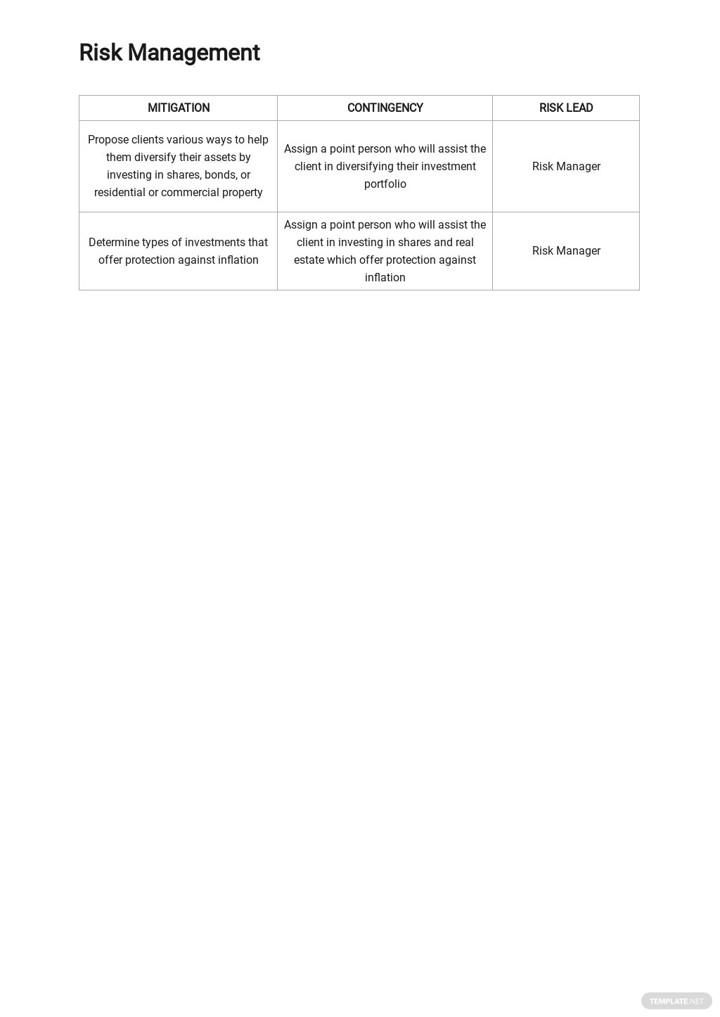 Investment Risk Analysis Template 2.jpe