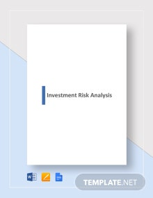 Investment Risk Analysis Template
