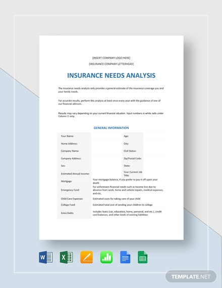 Insurance Needs Analysis