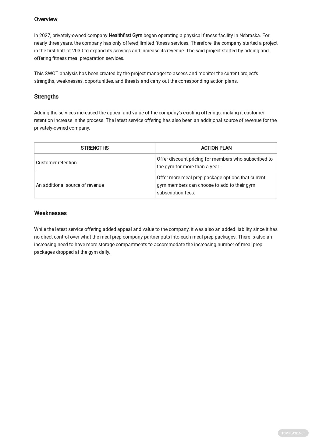 Project Management SWOT Analysis Template 1.jpe