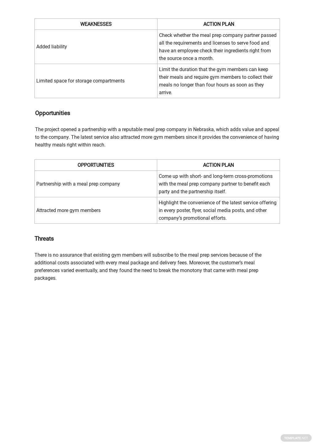 Project Management SWOT Analysis Template 2.jpe