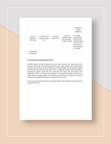 Marketing SWOT Analysis Download