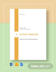 Activity Analysis Template