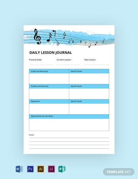 Free Music Journal Template