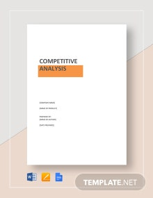 Product Competitive Analysis Template
