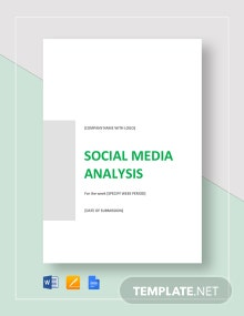 Social media Analysis Template