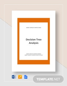 Example of Decision Tree Analysis Template