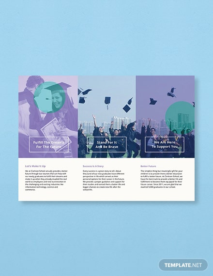 Free Graduation Brochure Template