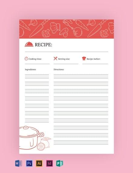 Free Recipe Journal Template