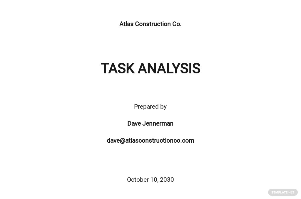Project Analysis Template