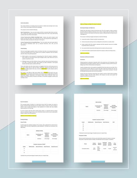 Sample Marketing Analysis