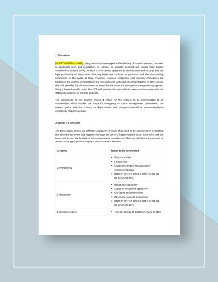 Hazard Vulnerability Analysis Download
