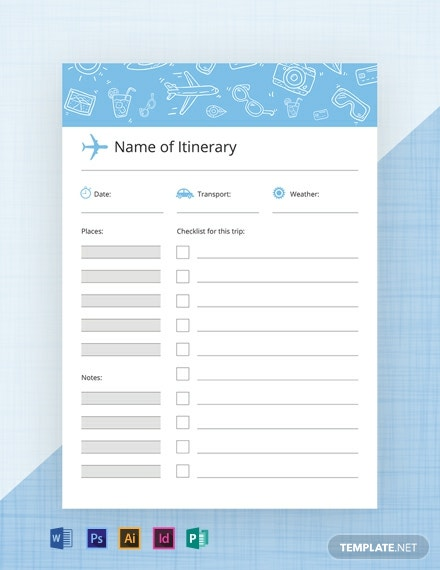 Free Travel Journal Template