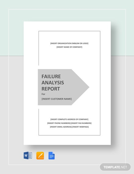 failure analysis report