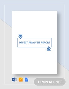 Defect Analysis Report Template