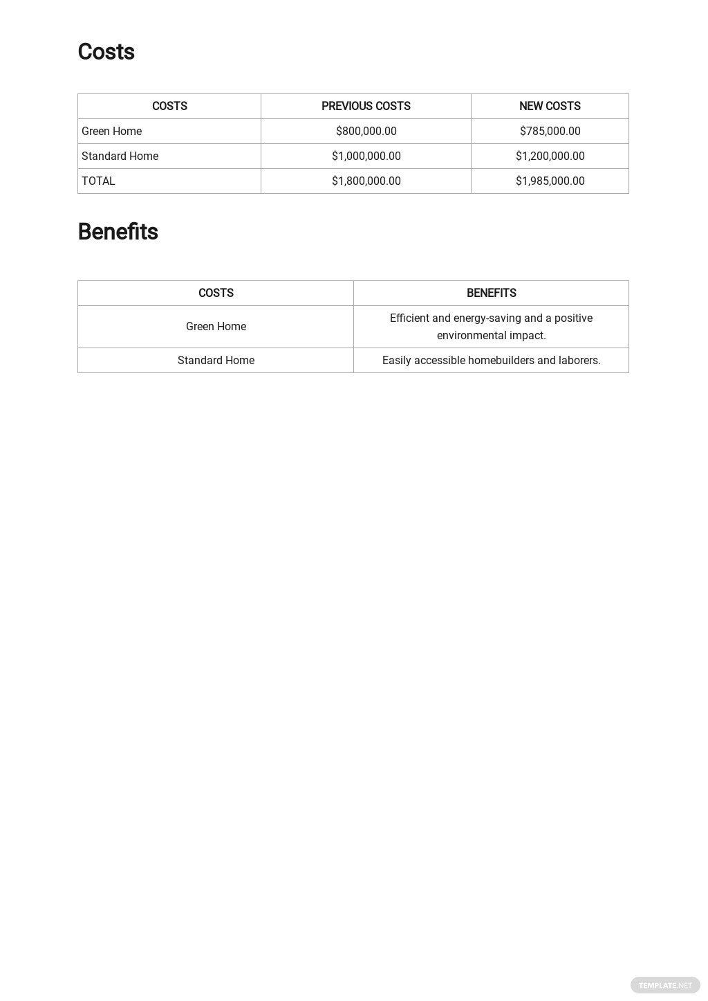 Cost Comparison Analysis Template 2.jpe
