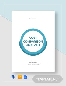 Cost Comparison Analysis Template