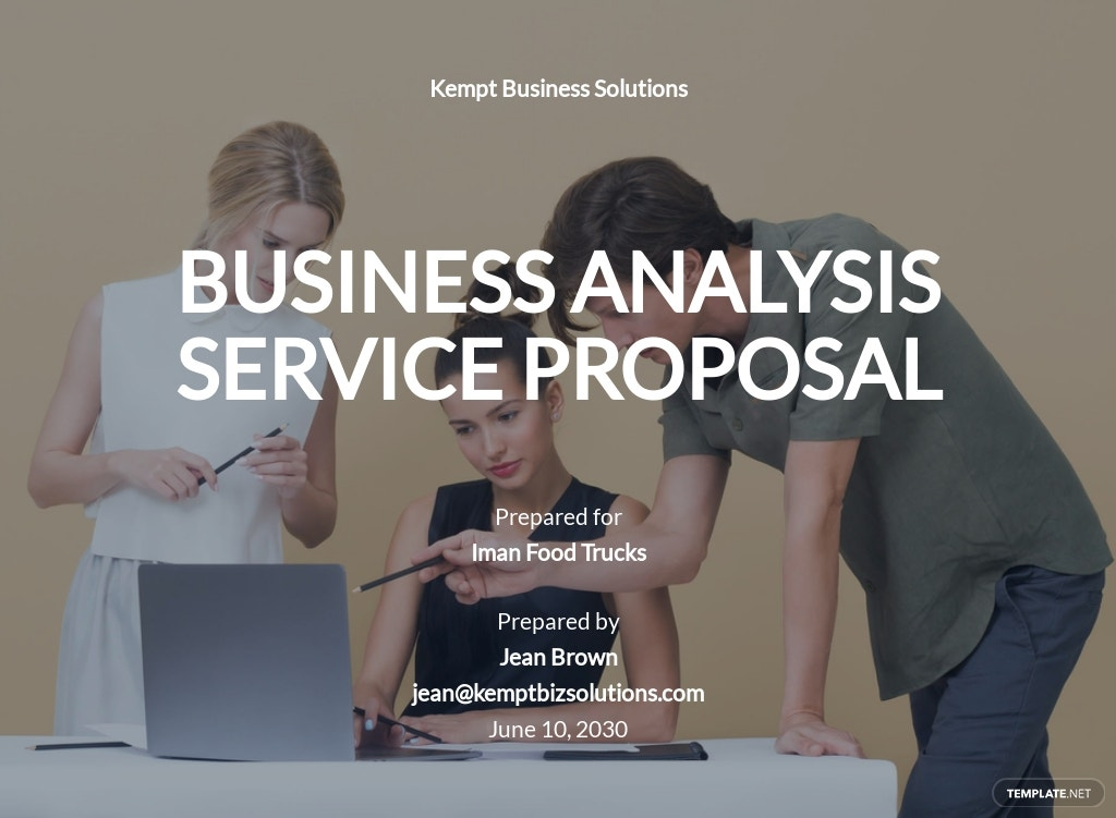 Business Analysis Proposal Template