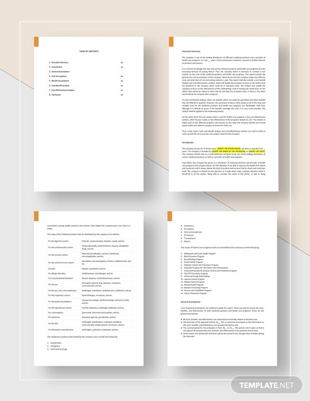 Cost Analysis Report Template