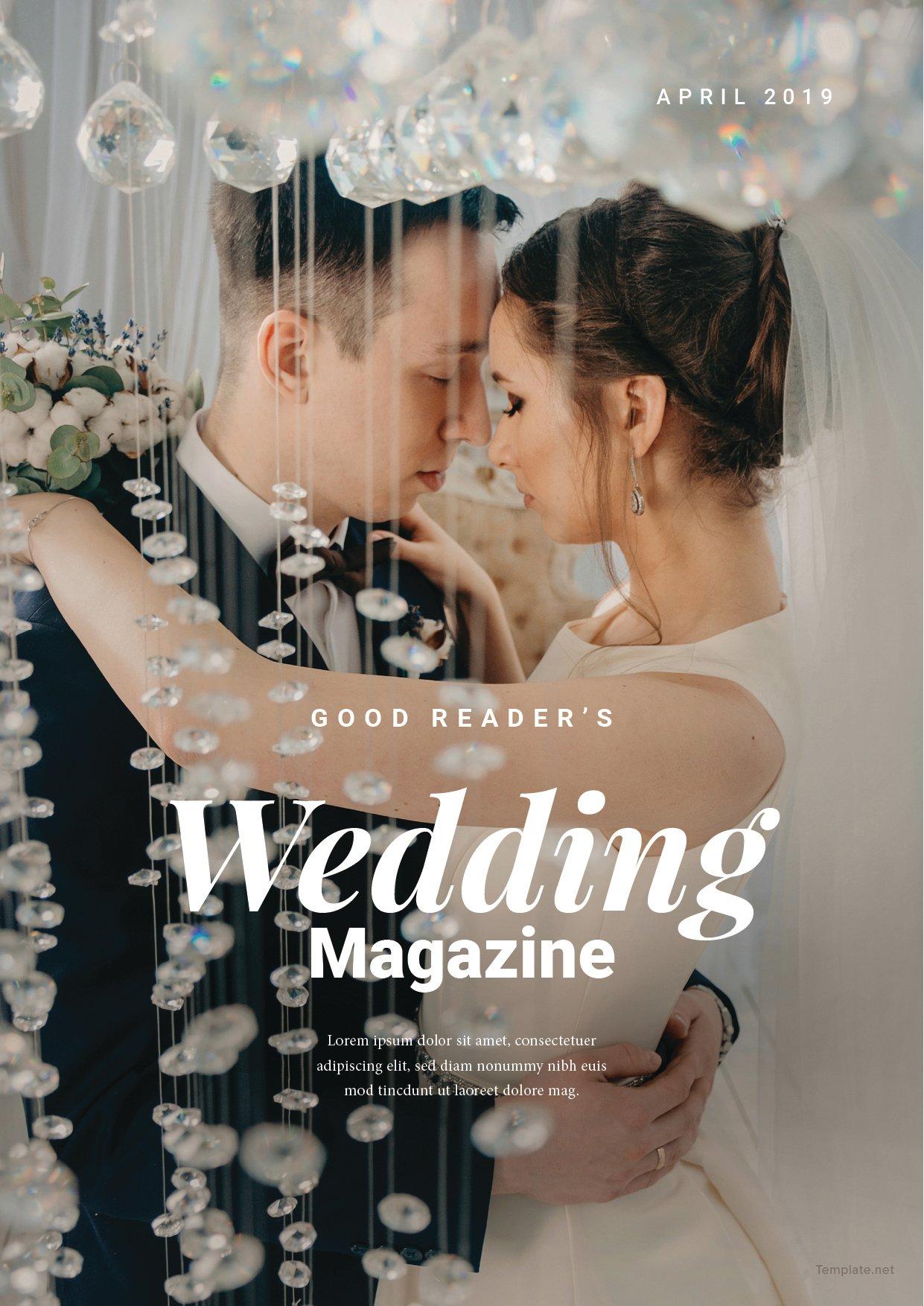 Bridal Wedding Magazine Template 1