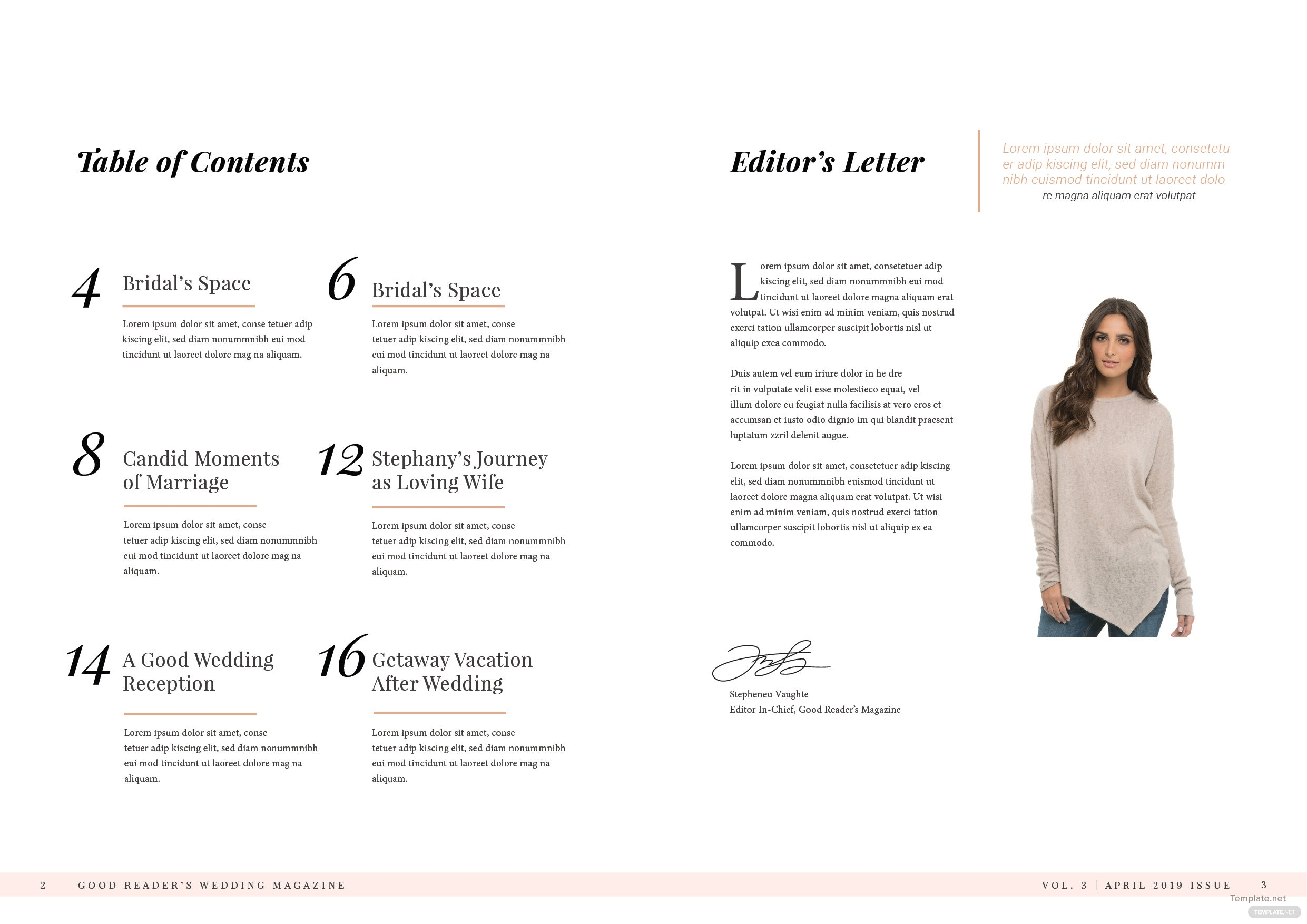 Bridal Wedding Magazine Template 2