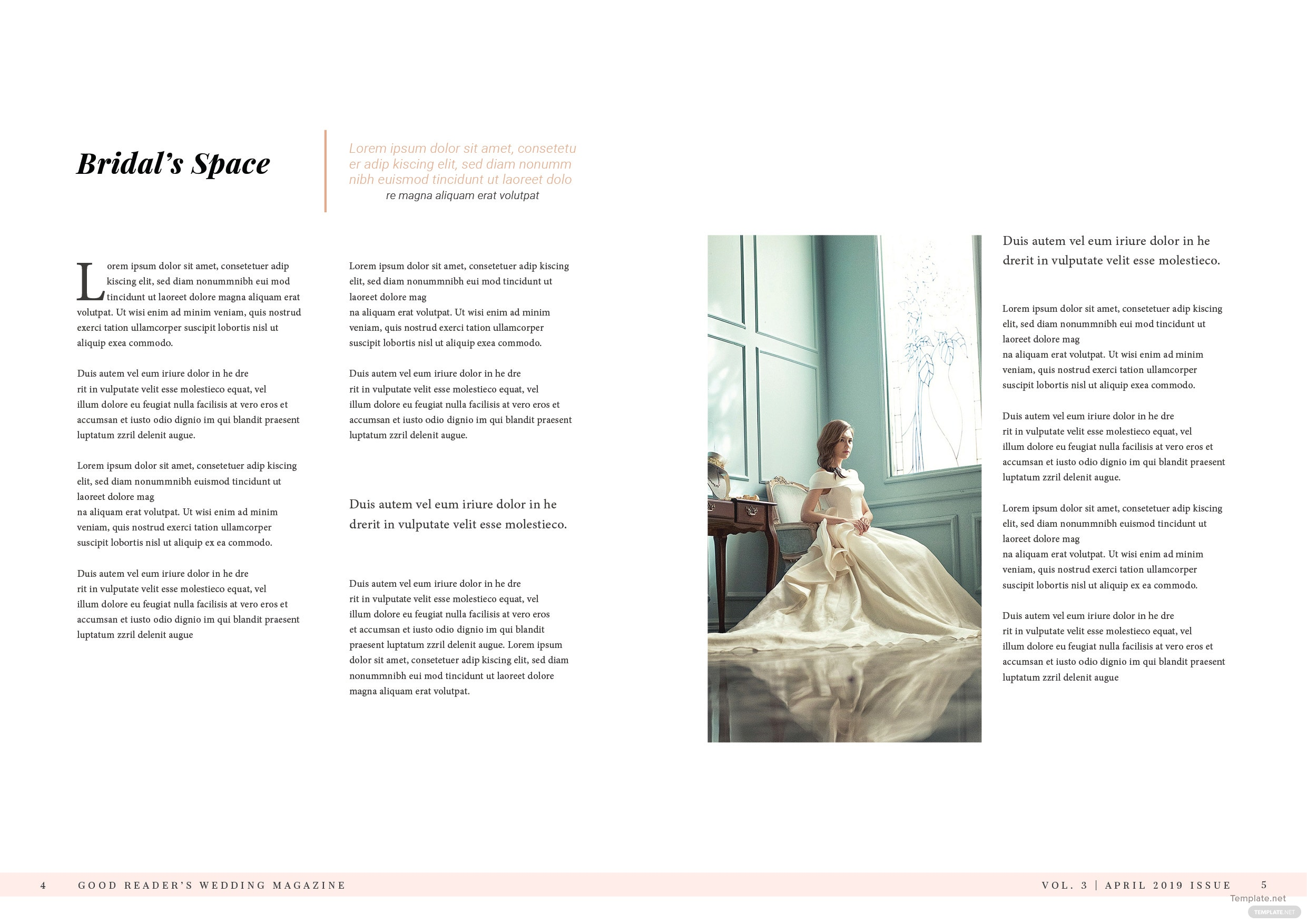 Bridal Wedding Magazine Template 3