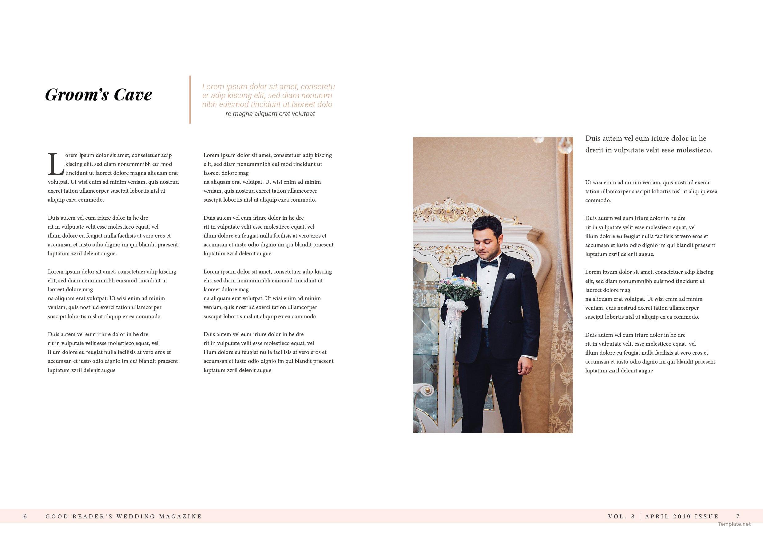 Bridal Wedding Magazine Template 4