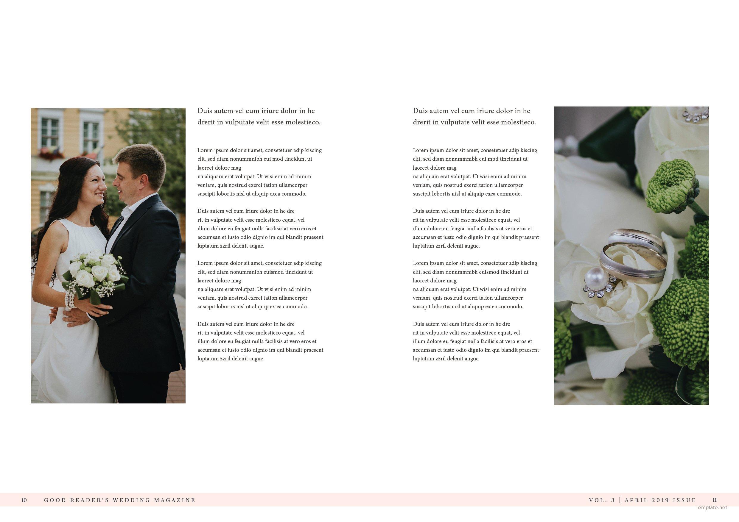 Bridal Wedding Magazine Template 6