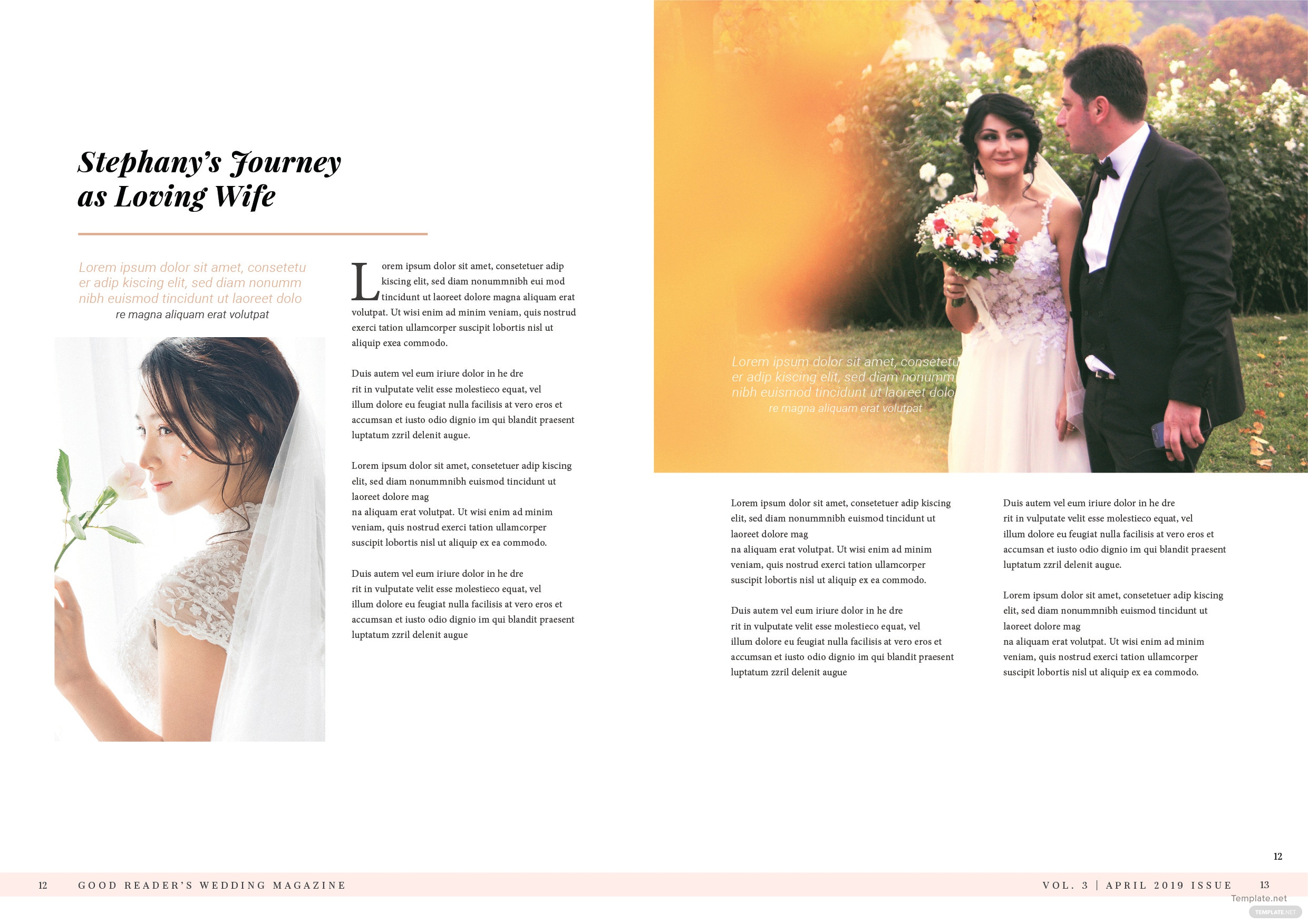 Bridal Wedding Magazine Template 7