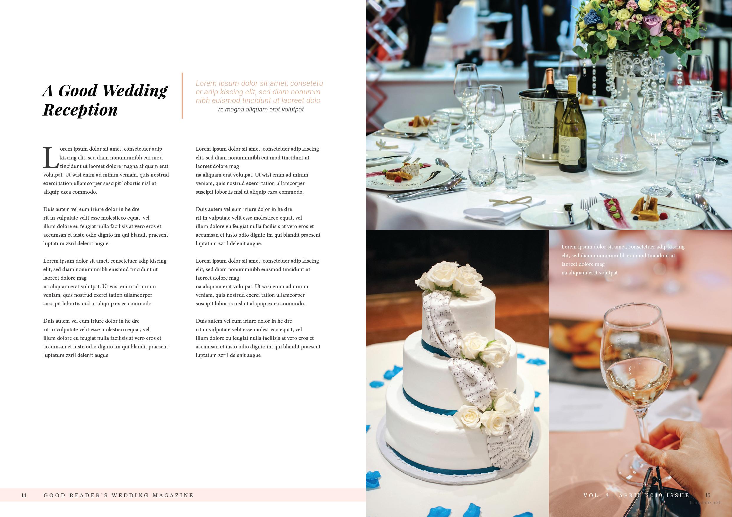 Bridal Wedding Magazine Template 8