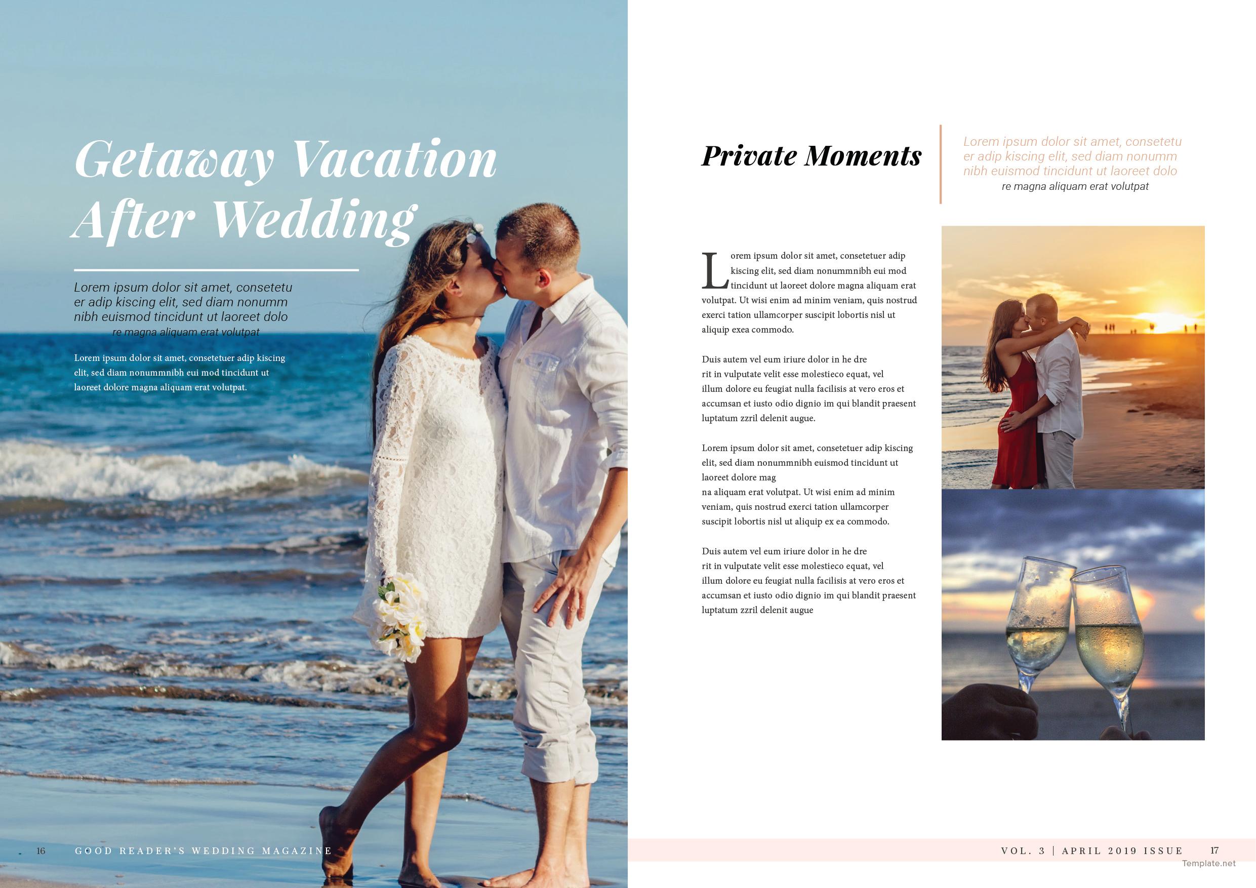 Bridal Wedding Magazine Template 9