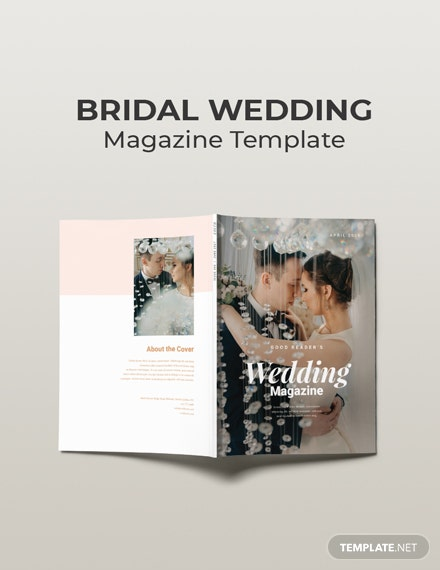 Free Bridal Wedding Magazine Template