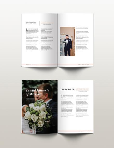 Free Bridal Wedding Magazine Template